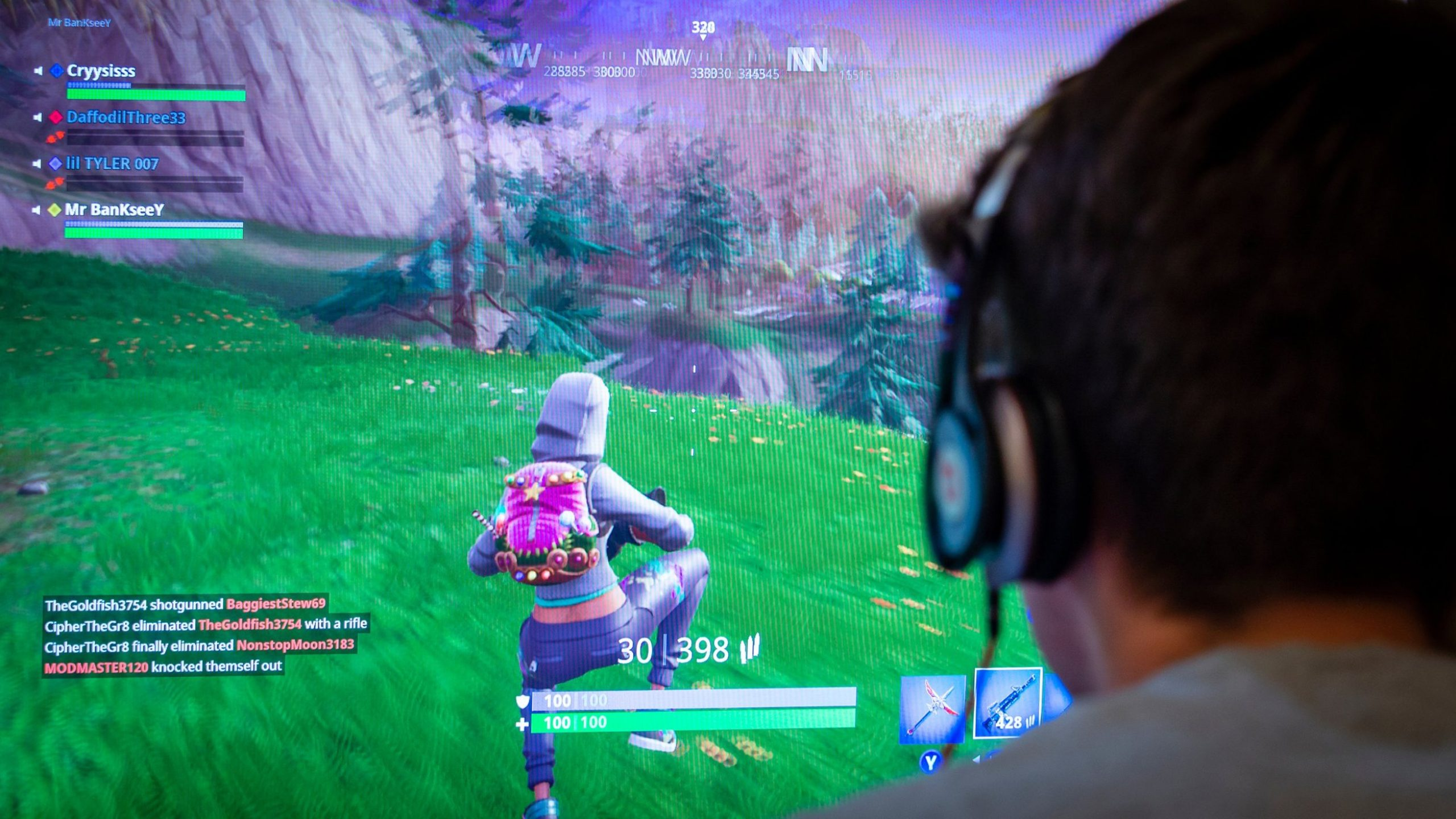 A gamer plays Fortnite in this undated photo. (Credit: Lenscap Photography/Shutterstock