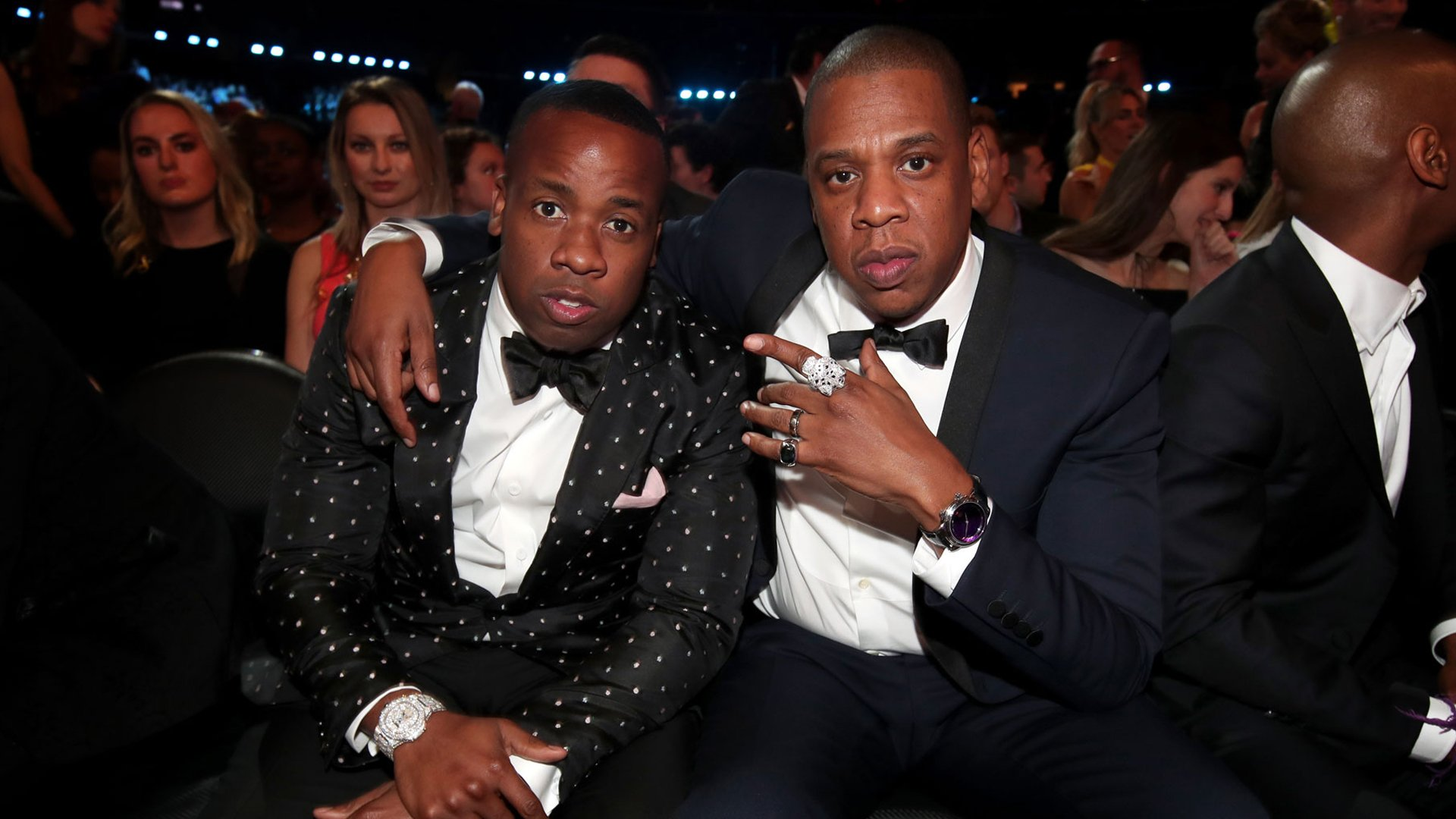 Yo Gotti and Jay-Z during The 59th GRAMMY Awards on Feb. 12, 2017. (Credit: Christopher Polk/Getty)