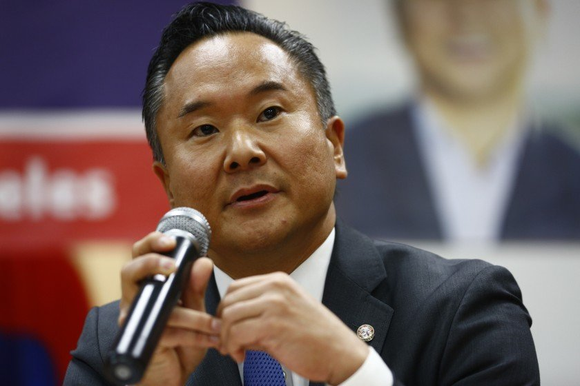 Los Angeles City Councilman John Lee is shown in a file photo from 2019. (Credit: Kent Nishimura/Los Angeles Times)
