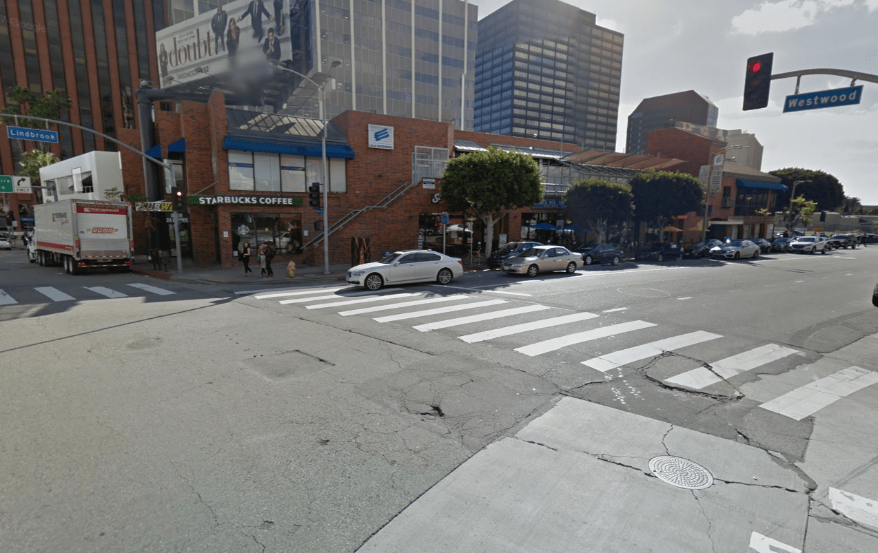 A Google Maps image shows 1161 S. Westwood Blvd. in Westwood.
