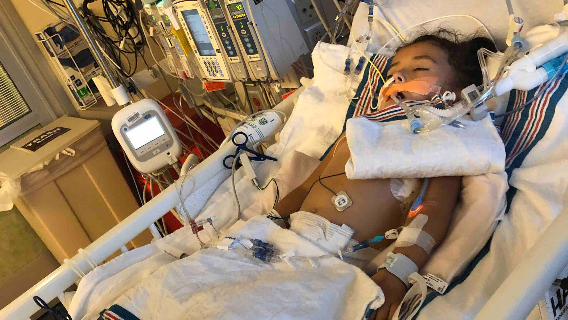 Aliyah Cardoza, 3, was hospitalized with a strain of the Coronavirus on Dec. 23, 2019. (Credit: GoFundMe)