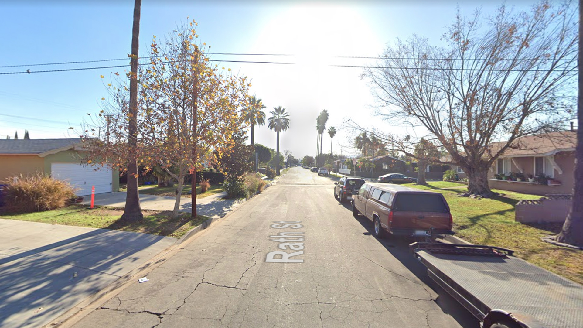 The 14600 block of Rath Street in the unincorporated county area of West Valinda, as viewed in a Google Street View image.