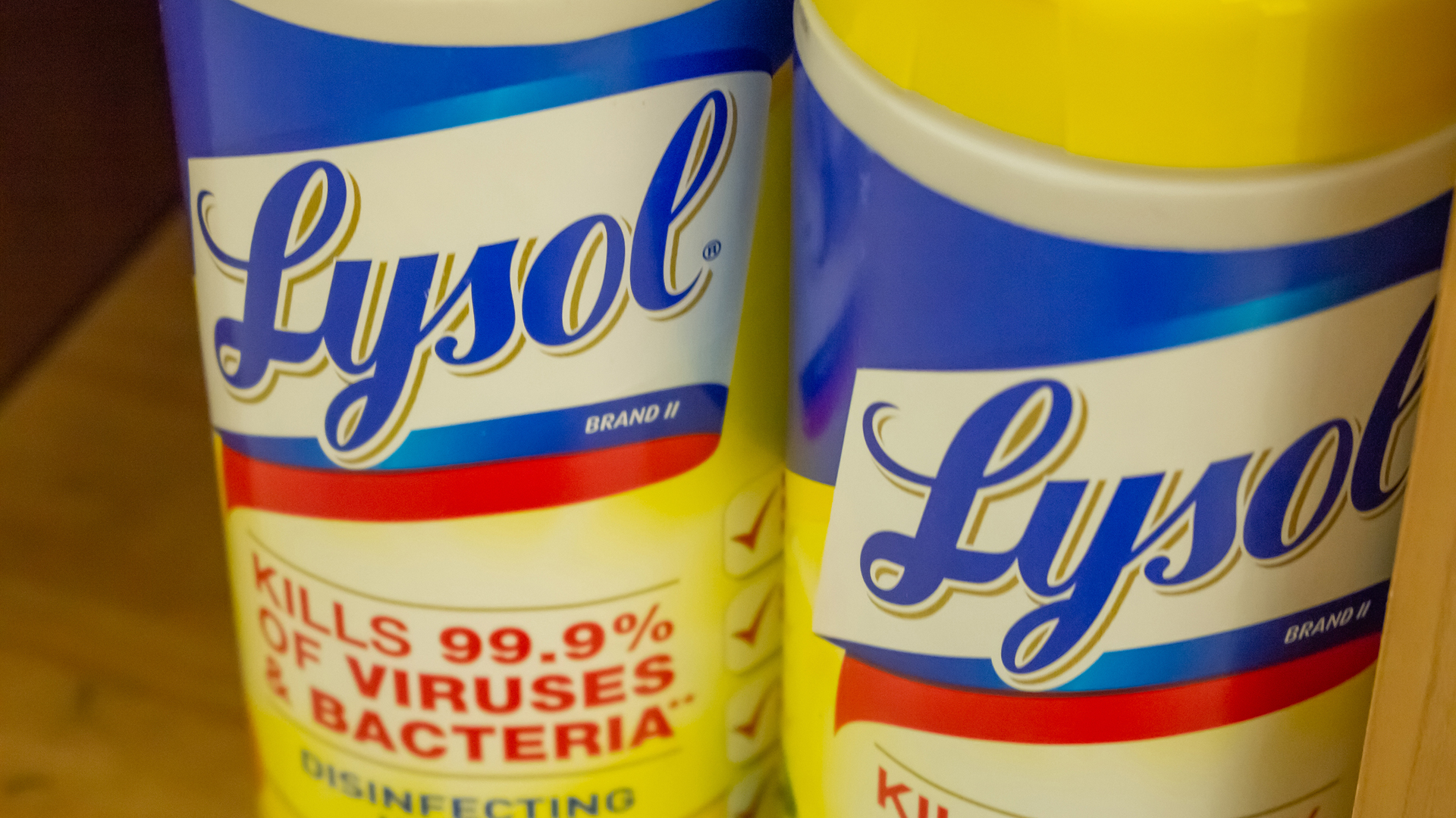 Lysol wipes -- cool for wiping down desks when you're sick, potentially protective against the novel coronavirus. (Shutterstock)