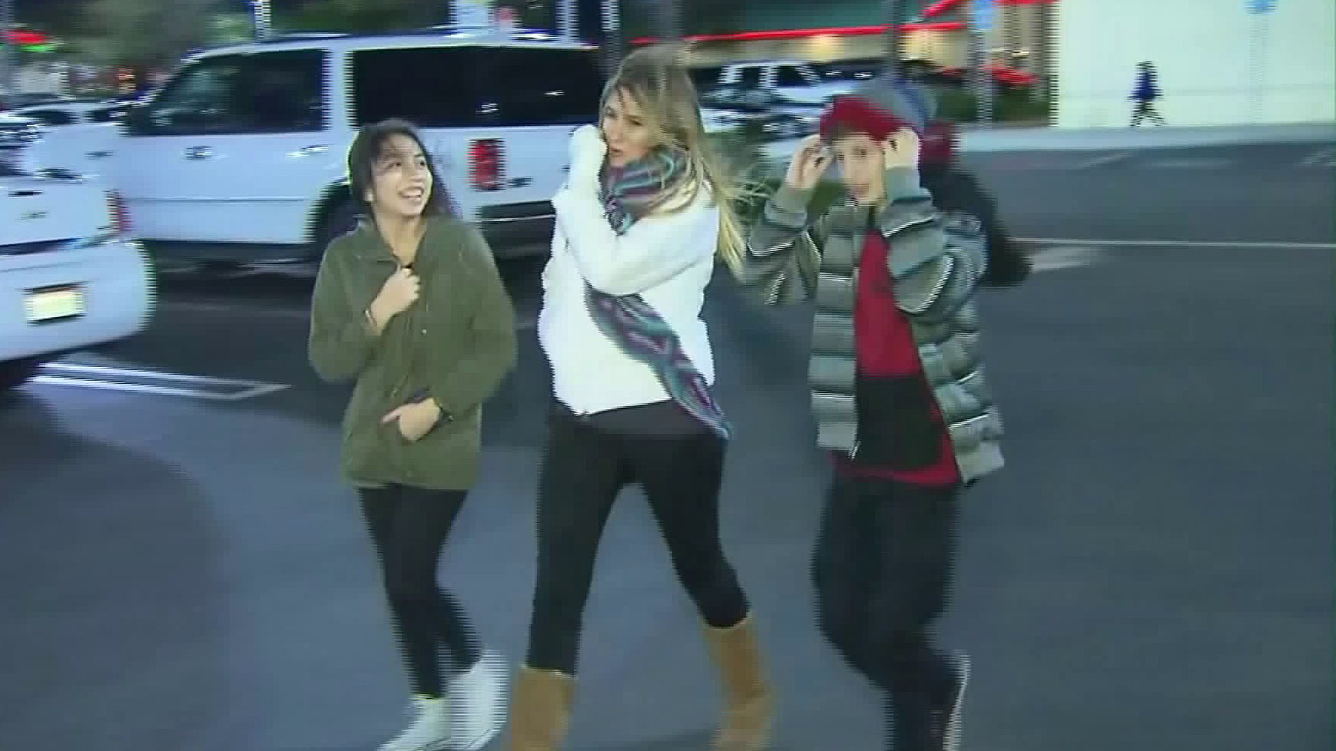 People walk on a cold day in Southern California in this file photo. (Credit: KTLA)