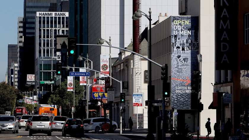 Los Angeles' Koreatown is seen in this undated file photo. (Credit: Luis Sinco / Los Angeles Times)