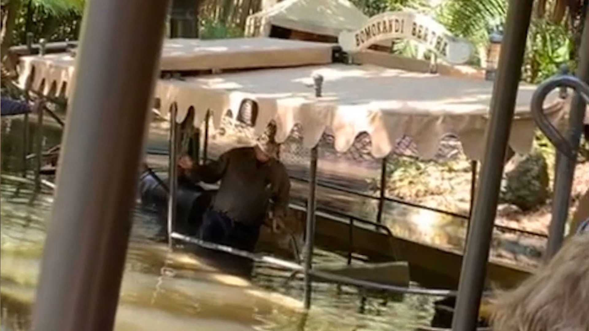 A jungle cruise boat at Disney World took on water on Feb. 27, 2020. (Credit: Matthew Vince/Twitter)