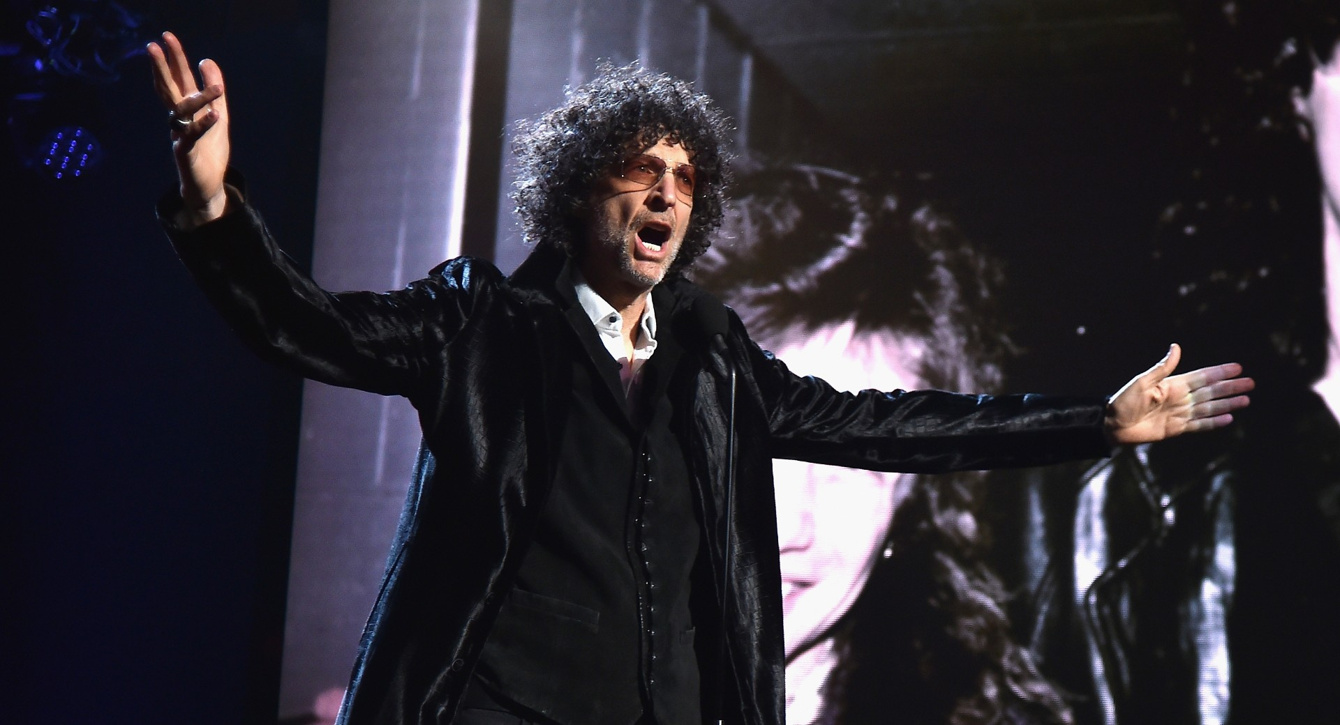 Howard Stern speaks during the 33rd Annual Rock & Roll Hall of Fame Induction Ceremony at Public Auditorium on April 14, 2018 in Cleveland, Ohio. (Theo Wargo/Getty Images For The Rock and Roll Hall of Fame)
