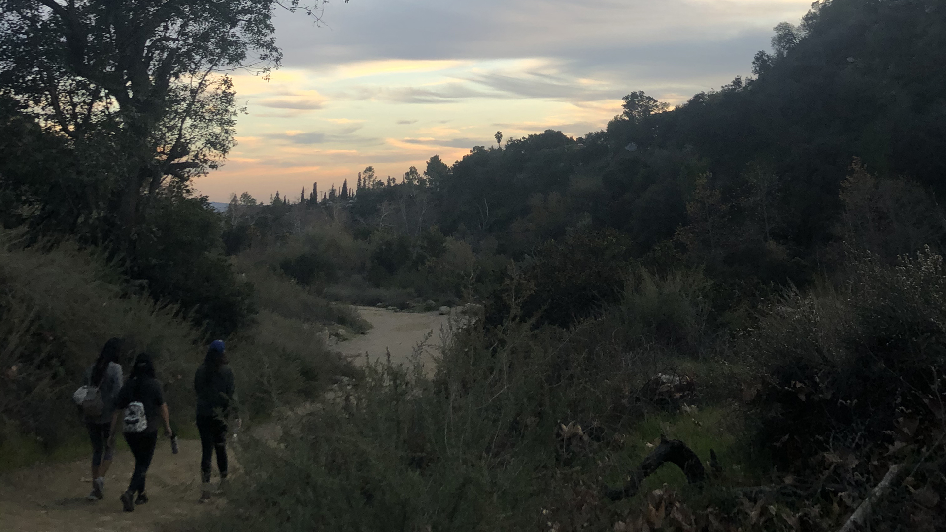 The Eaton Canyon Trail in Altadena is seen on Jan. 18, 2020. (KTLA)