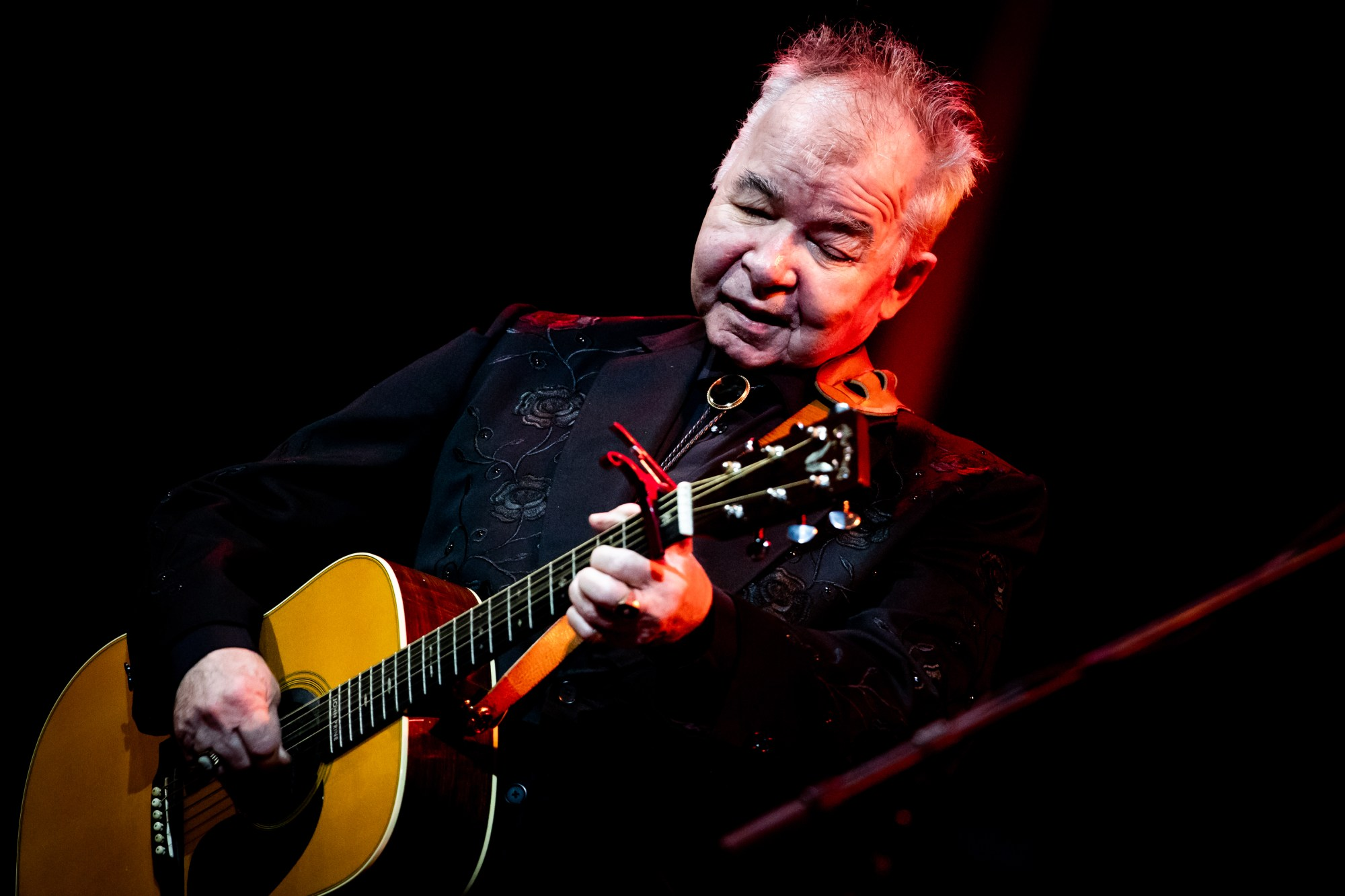 John Prine performs at John Anson Ford Amphitheatre on Oct. 1, 2019 in Hollywood. (Rich Fury/Getty Images)