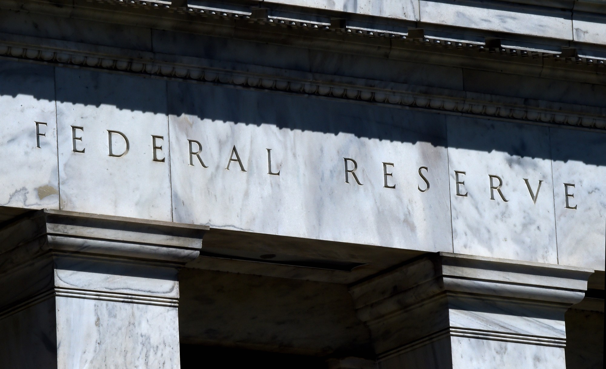 The Federal Reserve building is seen on April 2, 2020, in Washington, D.C. (Olivier DOULIERY / AFP / Getty Images)