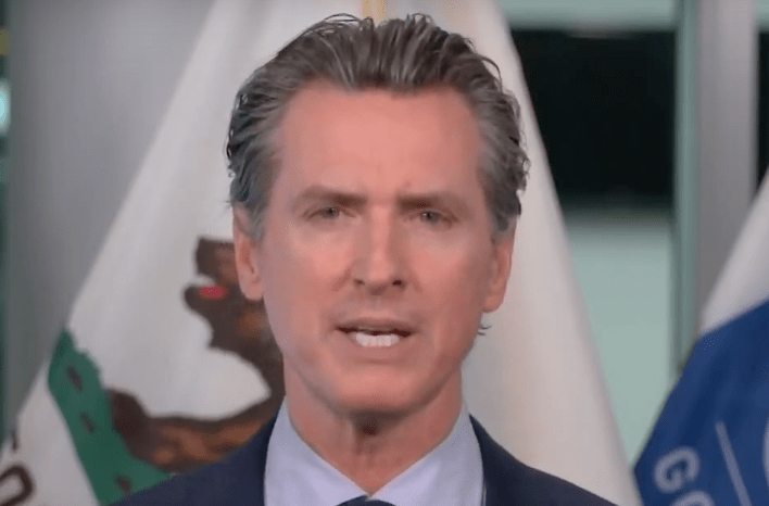 Gov. Gavin Newsom speaks at a news conference on May 12, 2020.