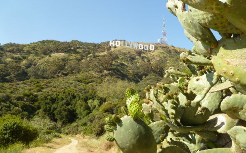 Hollywood sign atop Mt. Lee.(Charles Fleming / Los Angeles Times)