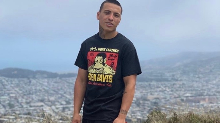Sean Monterrosa is seen in an undated photo posted to a GoFundMe page.