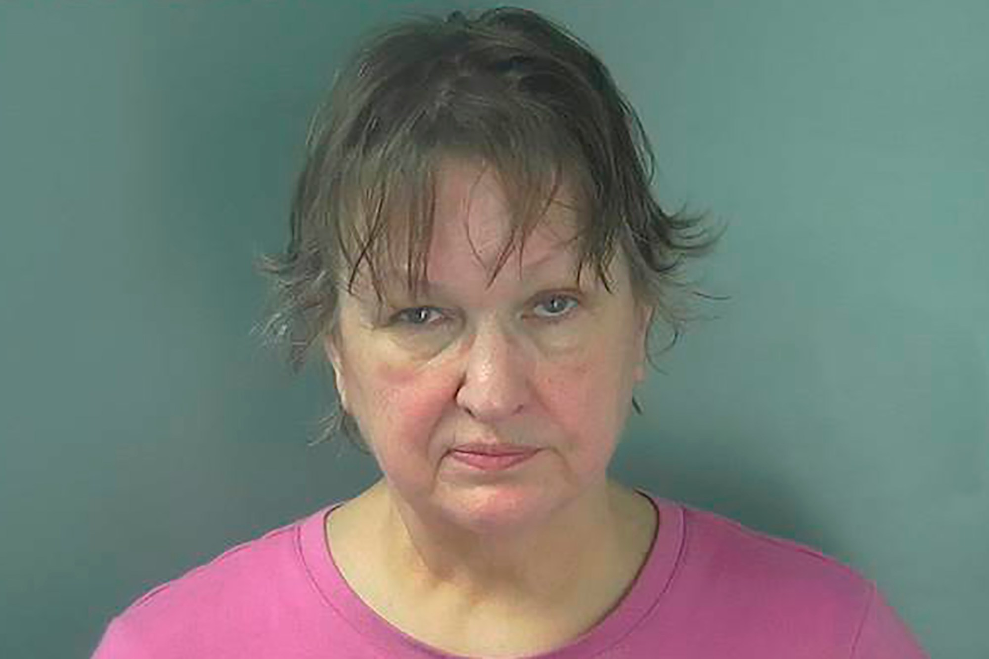 This photo provided by the Monroe County Correctional Center in Bloomington, Ind., shows Christi Bennett on Thursday, July 9, 2020. Bennett, an Indiana woman, was been arrested in a hit-and-run crash that sent one woman to the hospital and caused minor injuries to a man during a southern Indiana protest over the assault of a Black man by a group of white men on June 6. (Monroe County Correctional Center via AP)