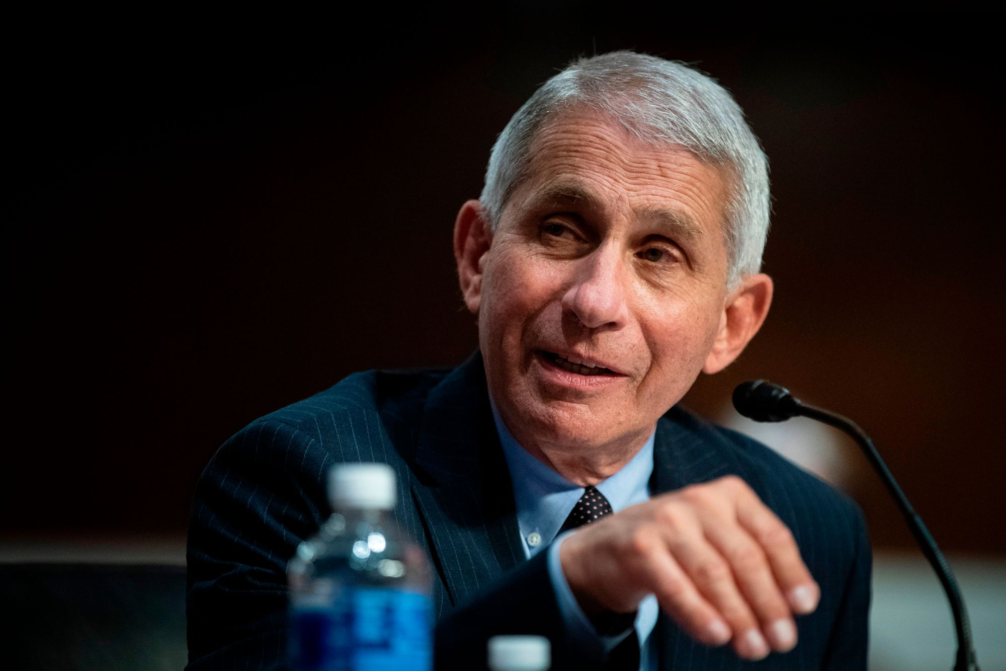 Anthony Fauci, director of the National Institute of Allergy and Infectious Diseases, speaks during a Senate Health, Education, Labor and Pensions Committee hearing in Washington, DC, on June 30, 2020. (AL DRAGO/AFP via Getty Images)