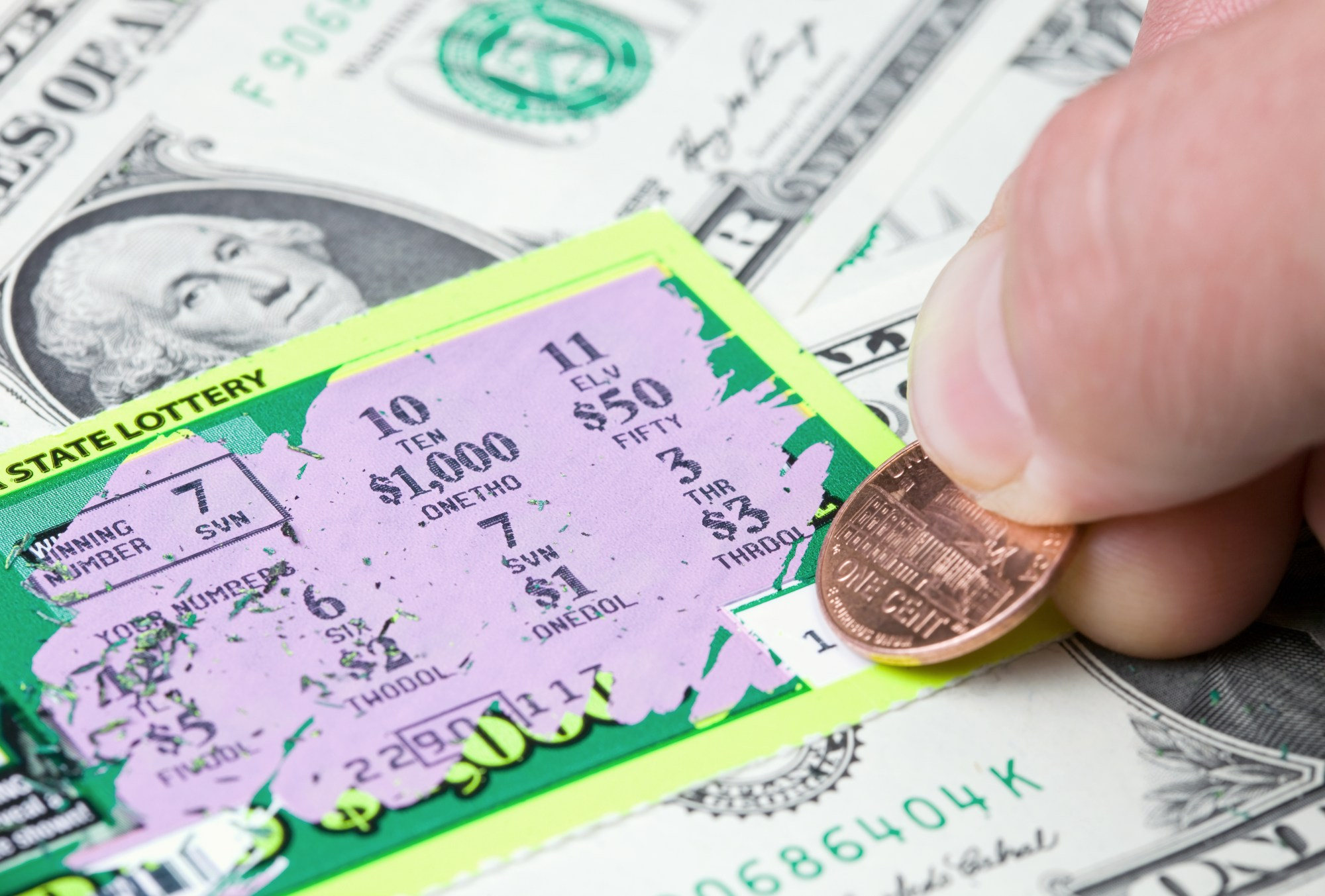 A lottery scratcher is seen in a file photo. (iStock/Getty images Plus)