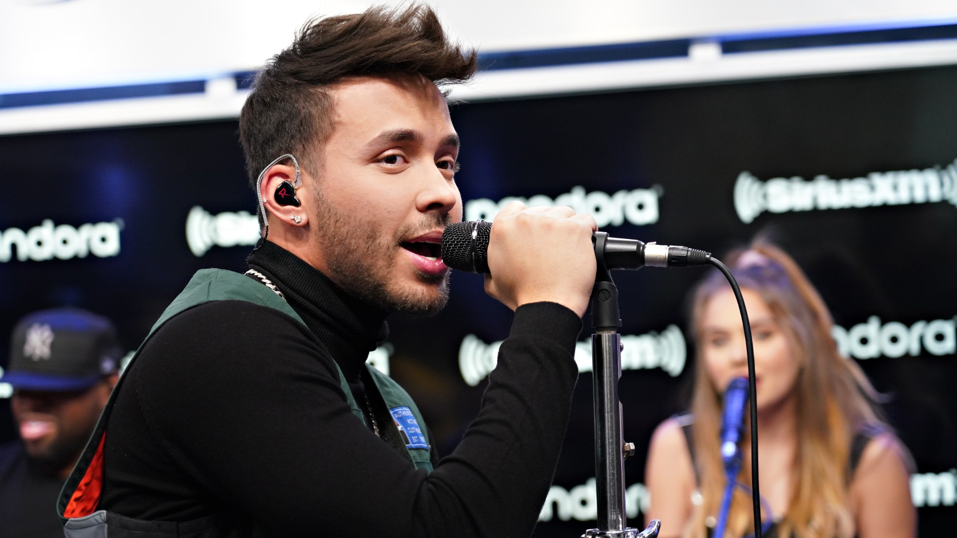 Prince Royce performs on SiriusXM's Caliente channel at the SiriusXM Studios on February 14, 2020 in New York City. (Photo by Cindy Ord/Getty Images for SiriusXM)