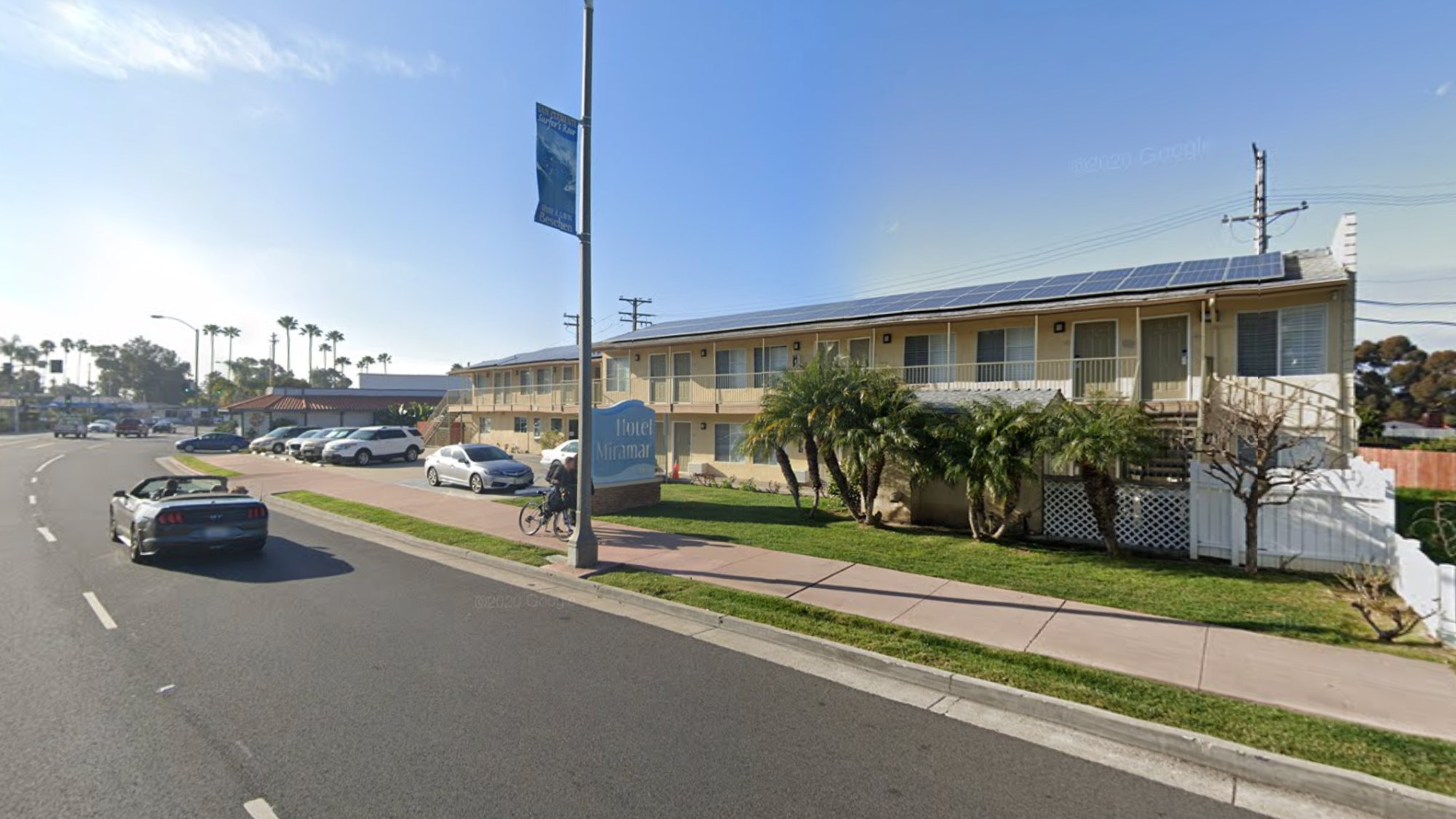 Hotel Miramar in San Clemente is seen in a Google Maps Street View image.