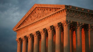 The U.S. Supreme Court is seen at sunset in Washington on Oct. 4, 2018. (Manuel Balce Ceneta / Associated Press)