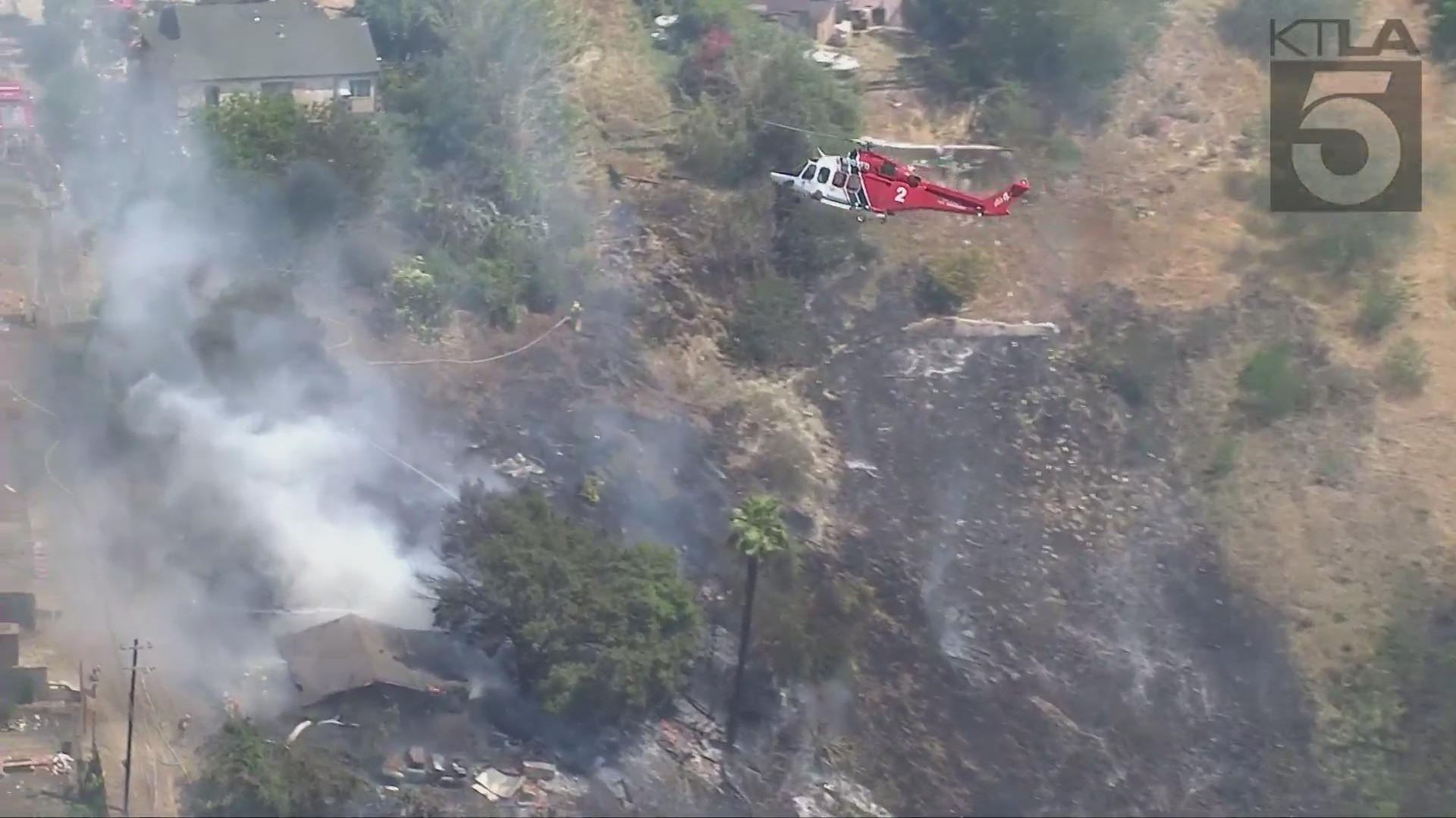 A brush fire broke out in the Lincoln Heights area on April 20, 2021.
