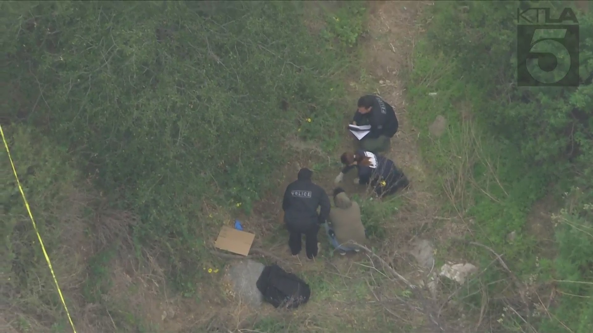 Possible human remains were found in Burbank on April 22, 2021. (KTLA)