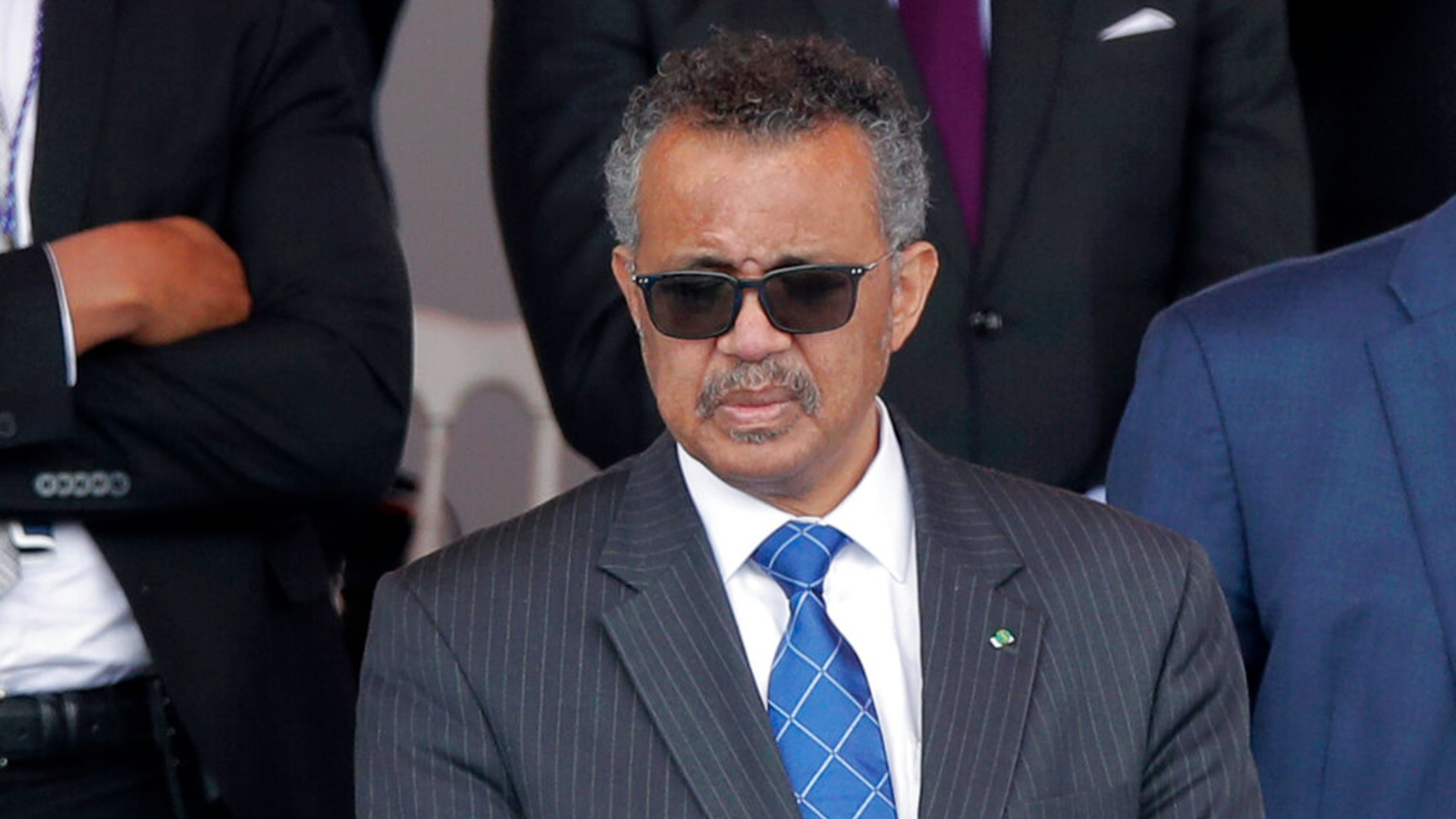 In this file photo dated Tuesday, July 14, 2020, Director General of the World Health Organization, Tedros Adhanom Ghebreyesus, attends the Bastille Day military parade, in Paris. (AP Photo/Christophe Ena, FILE)