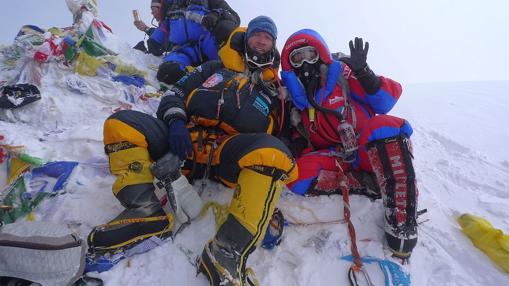 On the Summit of Mount Everest