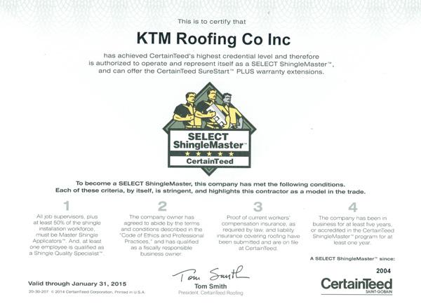 ShingleMaster-Certificate