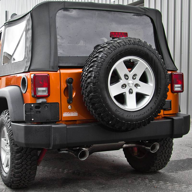 MBRP Axle Back 25 Dual Exhaust Kit Jeep 2007 2014 JK