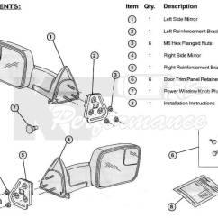 Dodge Ram 1500 Parts Diagram Subaru Impreza Wiring Radio Tow Mirrors (2002-08) & (2003-09) 2500/3500 Ram, Power, Heated, Telescopic ...