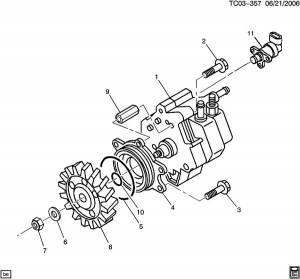 Cummins Fuel Control Actuator, Dodge (2003-07) 5.9L Dodge