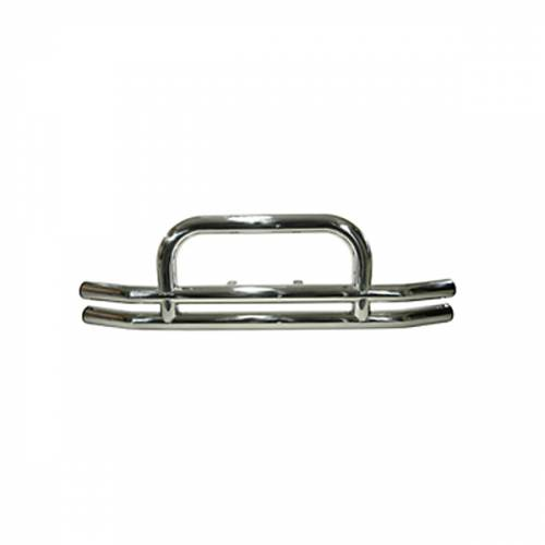 Rugged Ridge Tube Front Bumper, 3 Inch, Stainless Steel