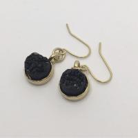 Black Druzy Gold Earrings 2 (1)  KTS Creative Korner