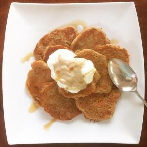 banana carrot gluten-free dairy-free pancakes