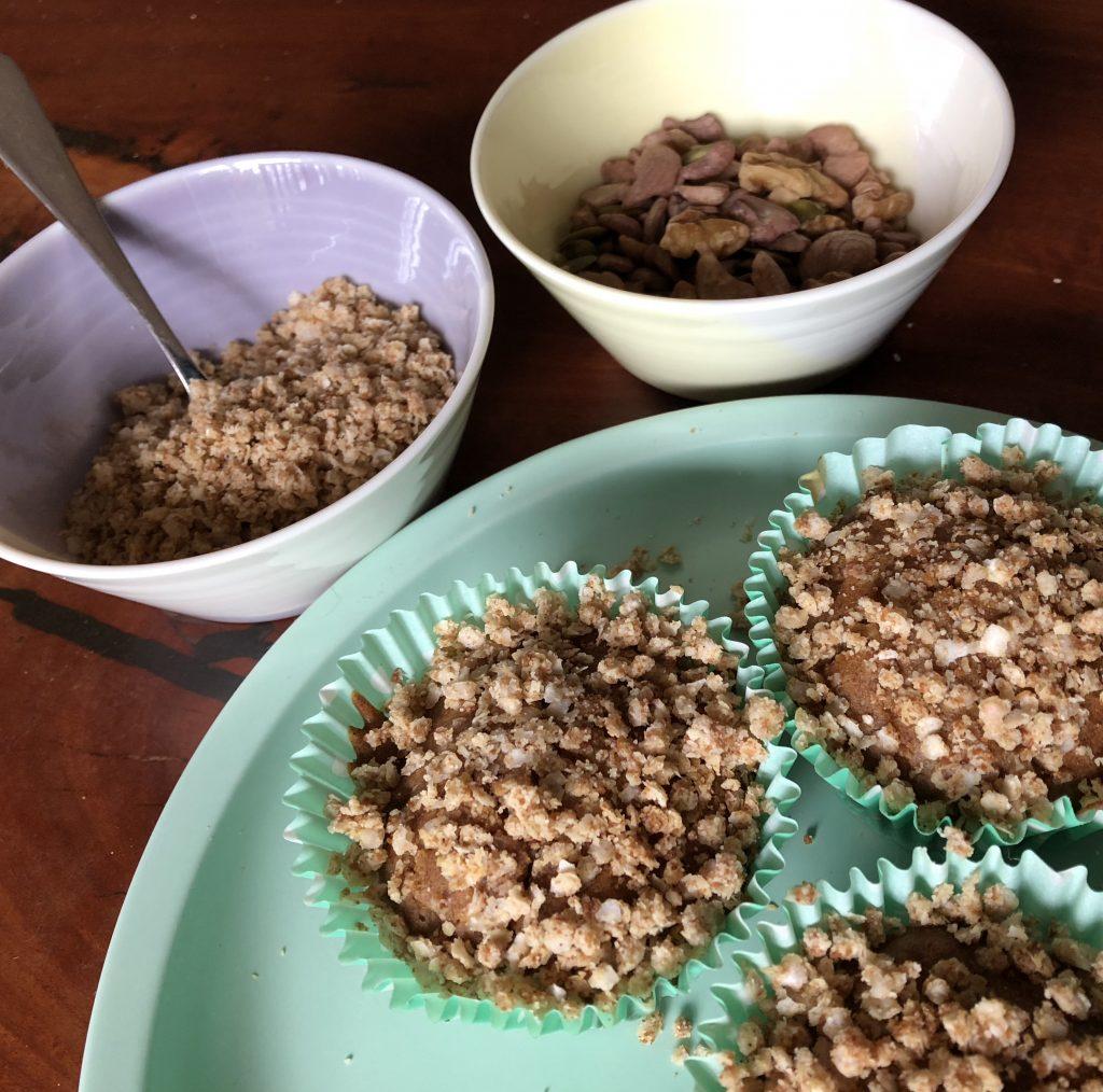 apple crumble muffins gluten free dairy free