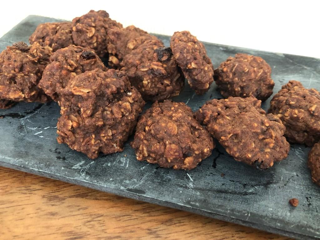 sultana coconut almond cinnamon oat yoghurt gluten free dairy free biccies