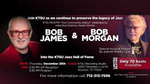 Bob James and Bob Morgan KTSU Jazz Hall of Fame