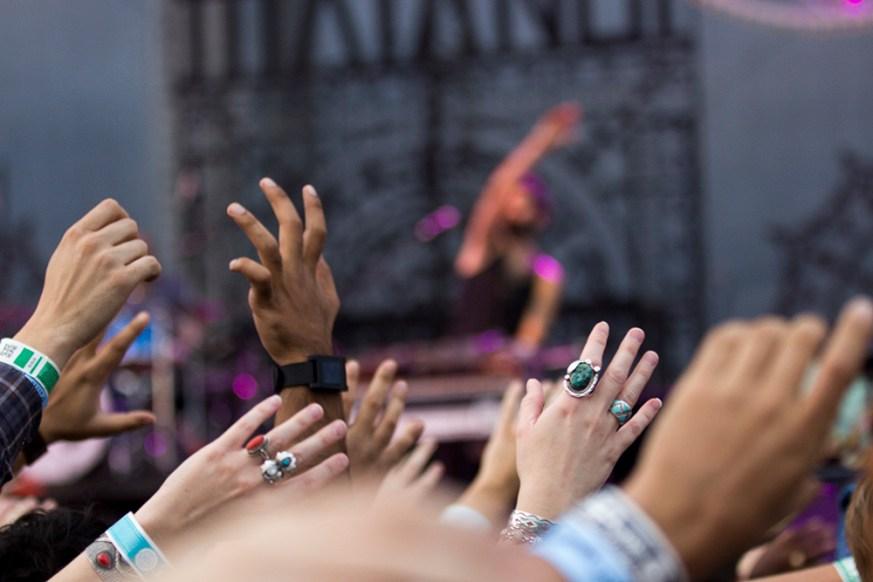David Rivera - Hands in the air at Fun Fun Fun Fest