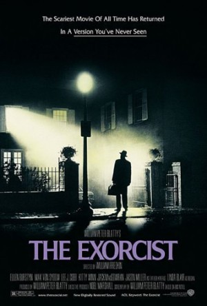 The Exorcist movie poster (Father Merrin looking up at Regan's window.)