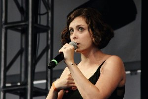Rachel Bloom during her Fun Fun Fun set at the Yellow Stage. Photo by Janelle Abad.