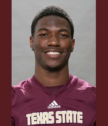 Texas State junior wide receiver Brandon Smith. Photo by Texas State Athletics.
