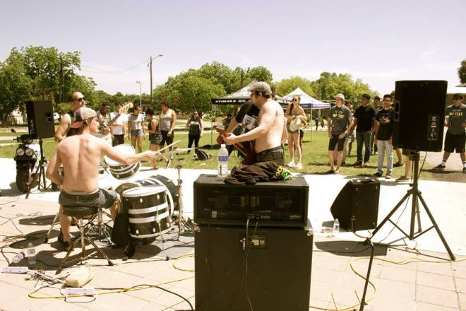 Punk outfit Bad Dad performs at Texas Skate. Photo by Hannah Bennett.