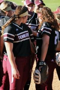 The Texas State softball team. Photo by Madison Tyson.