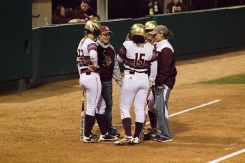 Texas State got their 4th win over UT in the last two seasons; Photo Credited to Nicole Wolf