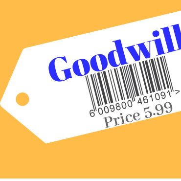An illustration of a Goodwill price tag.