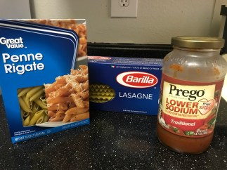 Pasta Noodles and sauce