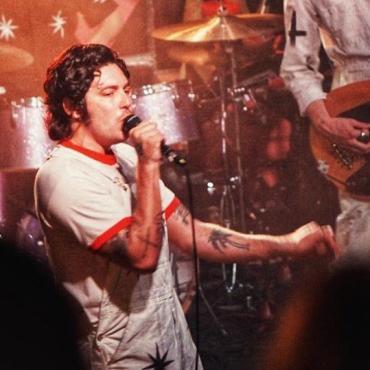 Growler's frontman, Brooks Nielsen singing on stage at Mohawk in Austin on September 30.