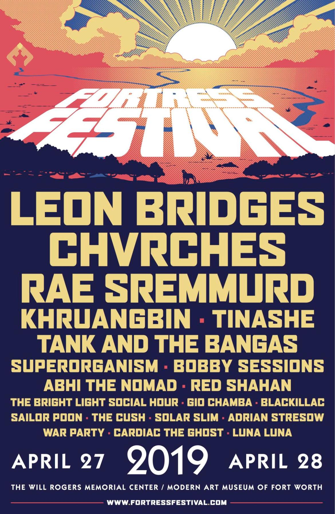 poster of an Illustrated sky and below are the names of performers at the festival.