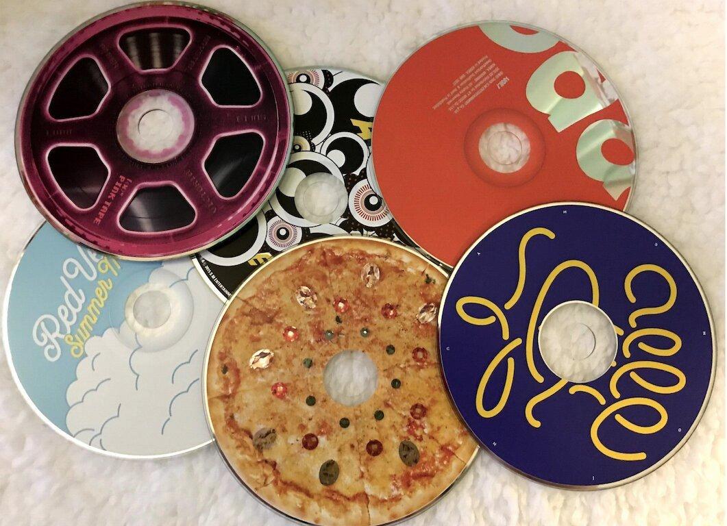 six different k-pop cds