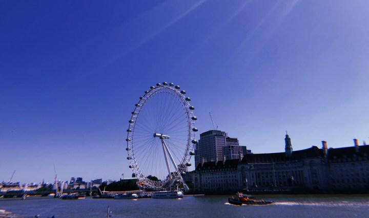 One of London's many tourist hotspots, the London Eye.